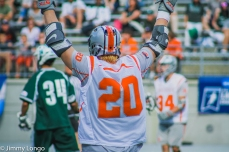Eric Fannell reacts to a Buckeye goal