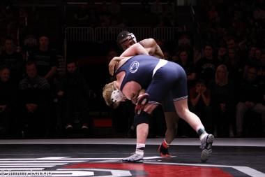 Bo Nickal tries to upend Myles Martin of Ohio State