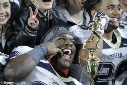 Todd Sibley with the Div. II trophy